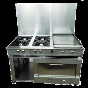 Cocina con 4 quemadores horno y plancha - www.equinoxcr.com