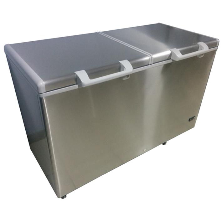 Equinox-Congelador de 2 tapas en acero inoxidable
