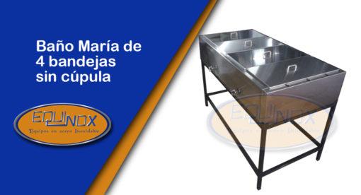 Equinox-Baño María de 4 bandejas sin cupula-A