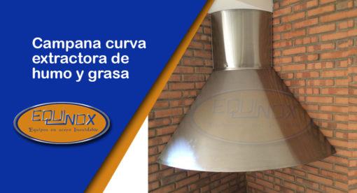 Equinox-Campana curva extractora de humo y grasa-A