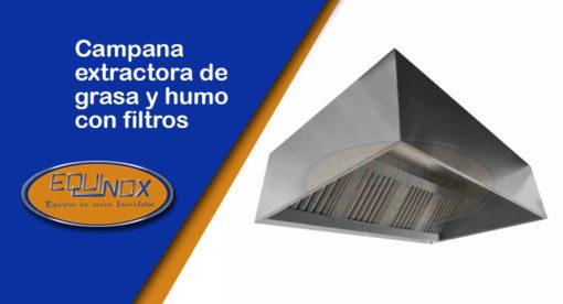Equinox-Campana extractora de grasa y humo con filtros-A