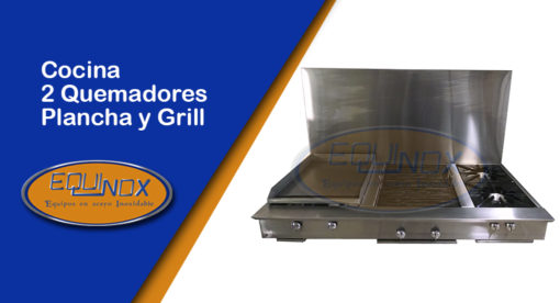 Equinox-Cocina 2 quemadores plancha y grill-A