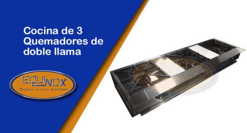 Equinox-Cocina de 3 quemadores de doble llama-A