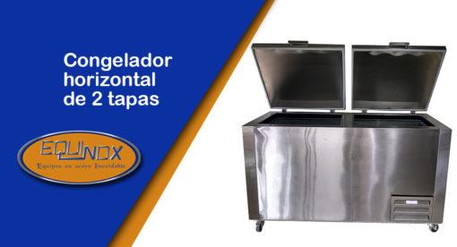 Equinox-Congelador horizontal de 2 tapas-A