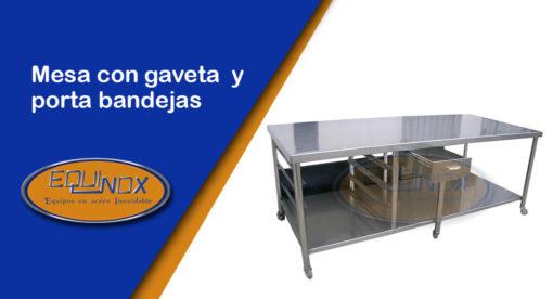 Equinox-Mesa con gaveta y porta bandejas-A