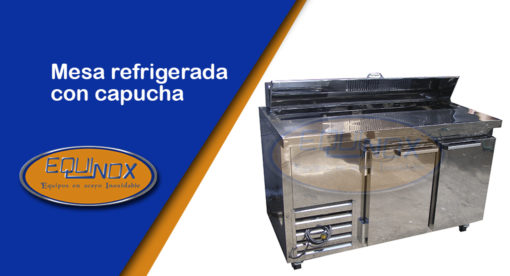 Equinox-Mesa refrigerada con capucha-A