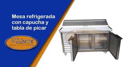 Equinox-Mesa refrigerada con capucha y tabla de picar-A
