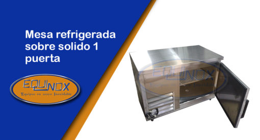 Equinox-Mesa refrigerada sobre solido 1 puerta-A
