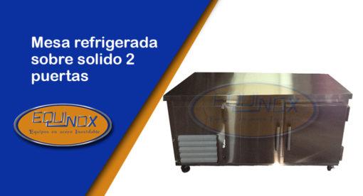 Equinox-Mesa refrigerada sobre solido 2 puertas-A