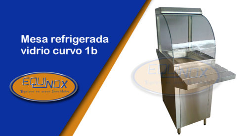 Equinox-Mesa refrigerada vidrio curvo 1b-A