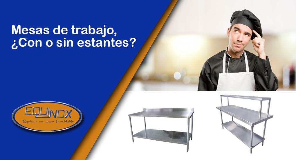 Equinox-Mesas de trabajo, Con o sin estantes