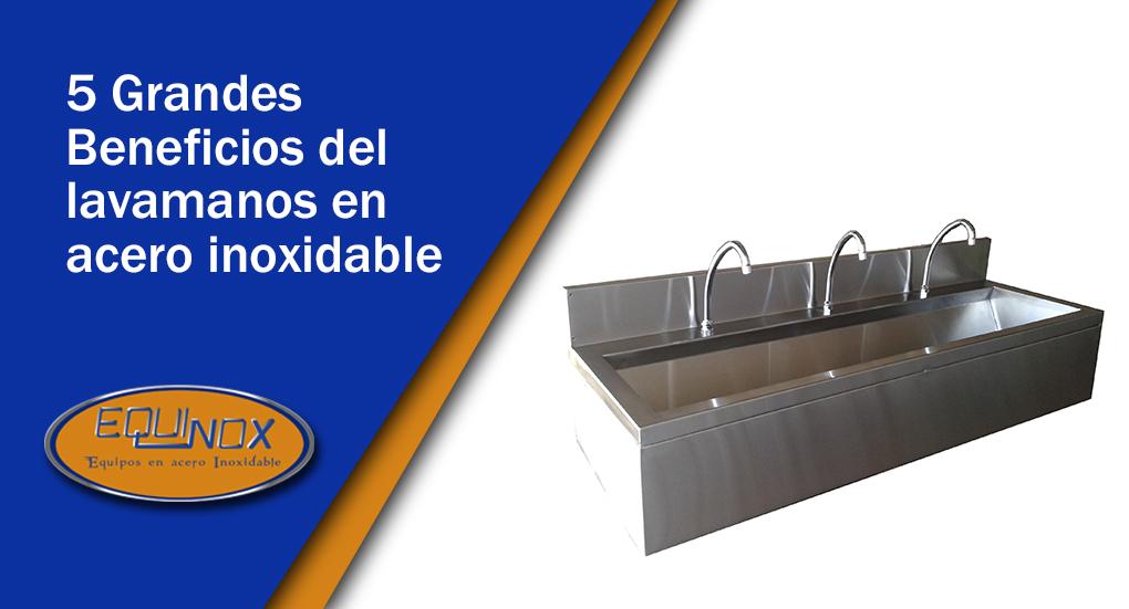 Equinox-5 Grandes beneficios del lavamanos en acero inoxidable-A