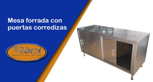Equinox-Mesa forrada con puertas corredizas-A