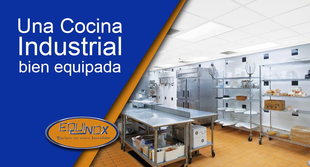 Una cocina industrial bien equipada
