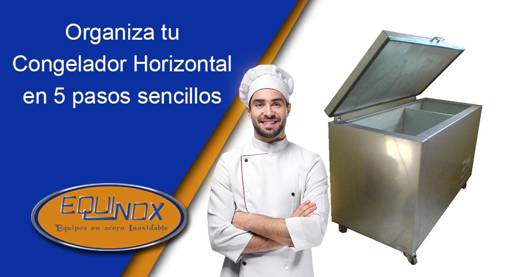 Organiza tu congelador horizontal en 5 pasos sencillos