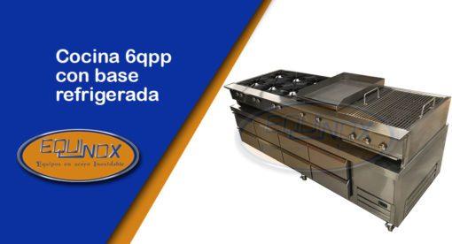 Equinox-Cocina 6qpp con base refrigerada-A