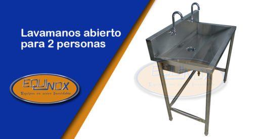 Equinox-Lavamanos abierto para 2 personas-A