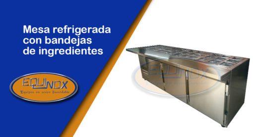 Equinox-Mesa refrigerada con bandejas de ingredientes-A