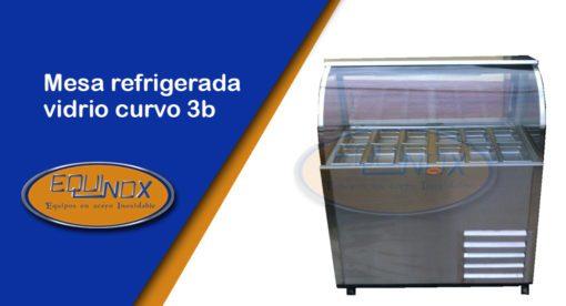 Equinox-Mesa refrigerada vidrio curvo 3b-A