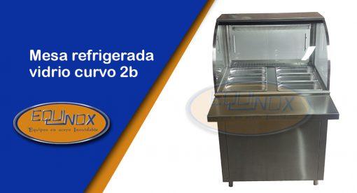 Producto-Mesa refrigerada vidrio curvo 2b